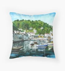 """Evening on Polperro"" - Cornwall Throw Pillow"
