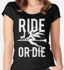Ride or Die Witch Halloween Women's Fitted Scoop T-Shirt