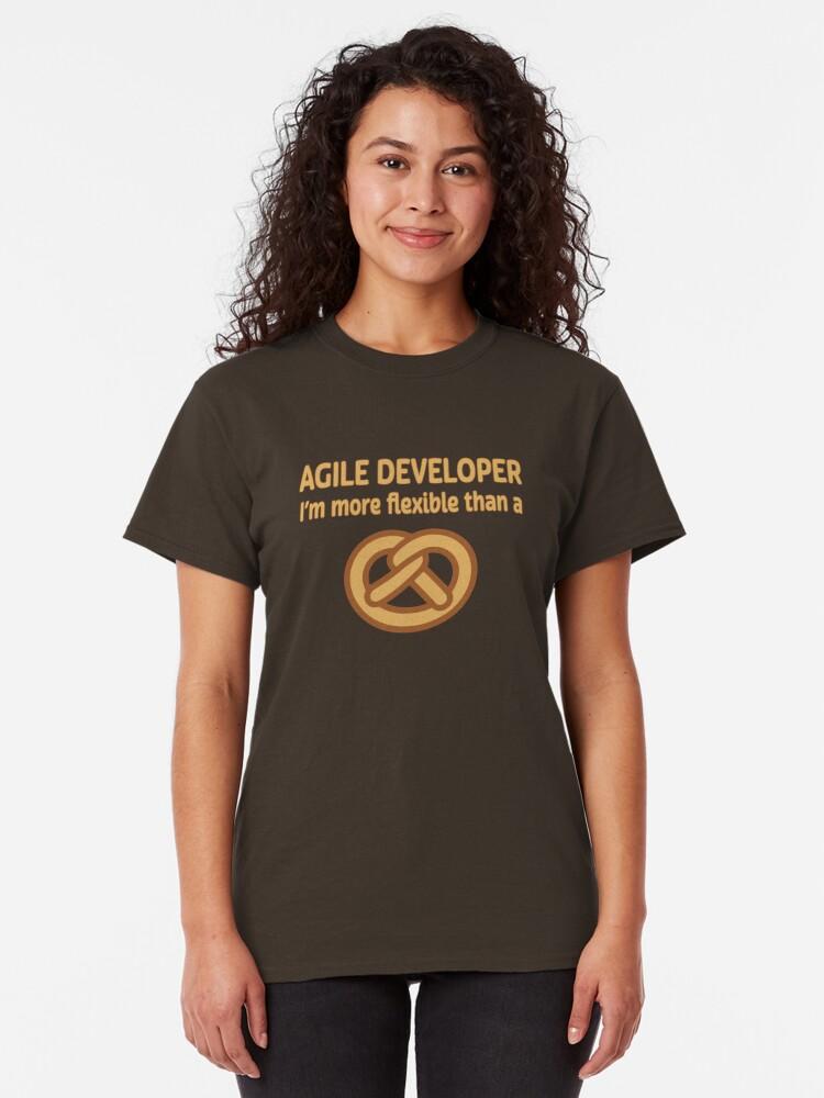 Alternate view of Agile Developer. Classic T-Shirt