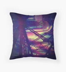 bridgeglitch Throw Pillow