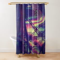 bridgeglitch Shower Curtain