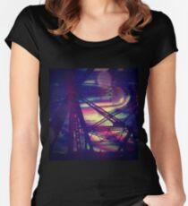bridgeglitch Fitted Scoop T-Shirt