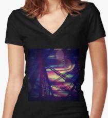 bridgeglitch Fitted V-Neck T-Shirt