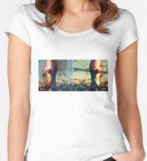 worldline divide Fitted Scoop T-Shirt