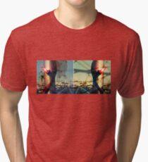 worldline divide Tri-blend T-Shirt