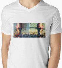 worldline divide V-Neck T-Shirt