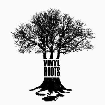 Vinyl Roots Black by kgosselinart