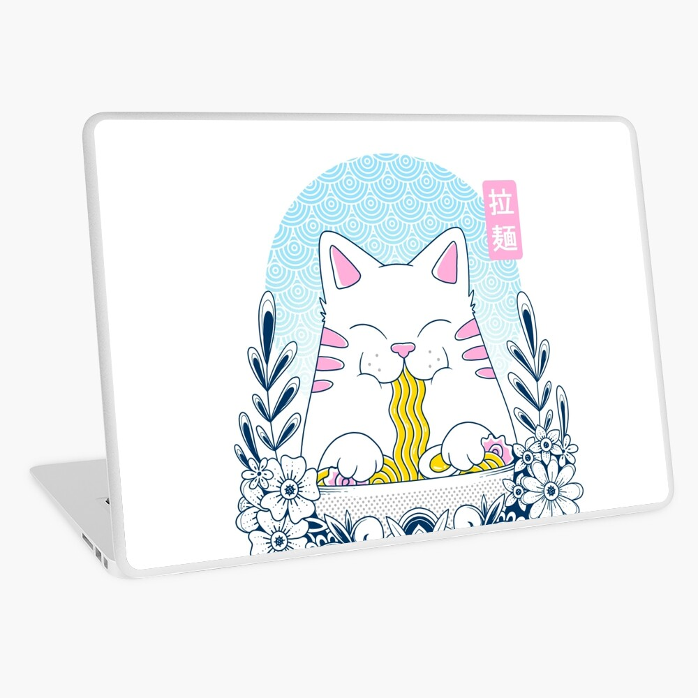 Ramen Cat Laptop Skin