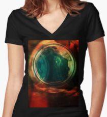 portal Fitted V-Neck T-Shirt