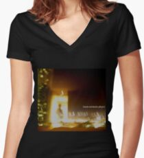 more serotonin please Fitted V-Neck T-Shirt