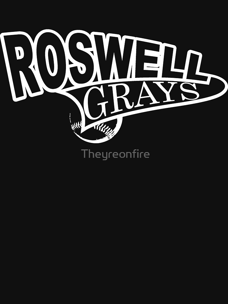 Roswell Grays Baseball Shirt White Logo by Theyreonfire