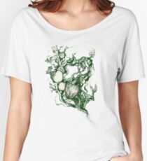 Garden paradise. Hand draw  ink and pen on textured paper Women's Relaxed Fit T-Shirt