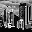 Sydney Skyline in Monotone by Peter Tachauer