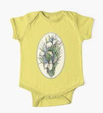 Beautiful iris - Hand draw  ink and pen, Watercolor, on textured paper Kids Clothes
