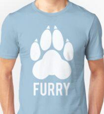 FURRY pawprint -white- Unisex T-Shirt