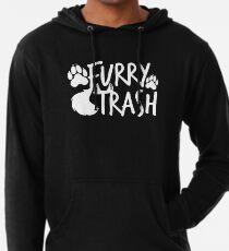 Furry Trash-Weiß- Leichter Hoodie