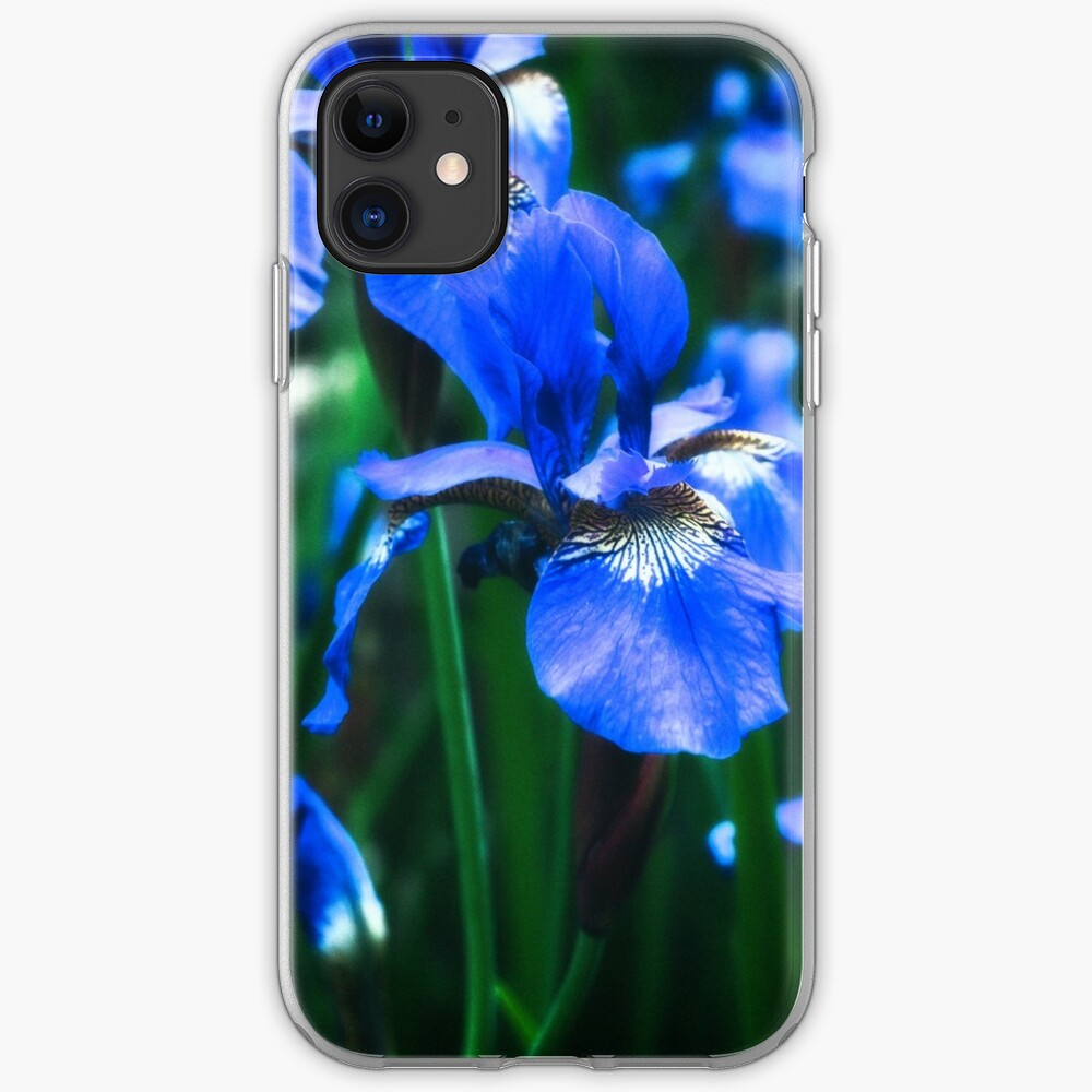 Blue Iris Flower - Art Photography iPhone Case & Cover