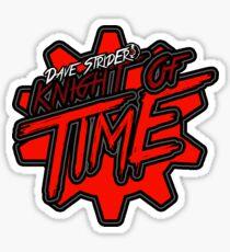 Homestuck Dave Strider Knight Of Time Title Logo Sticker