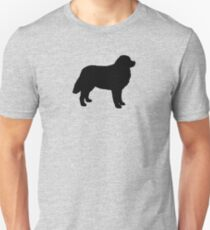 Bernese Mountain Dog Silhouette(s) Unisex T-Shirt