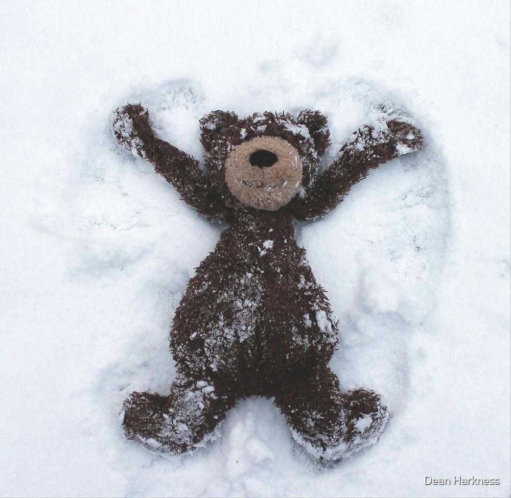 Snow Angel Teddy Bear by Dean Harkness