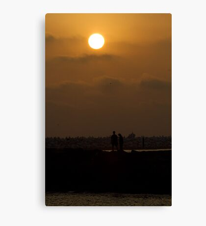 Lover's Sunset Canvas Print