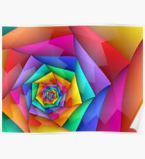Fractured Rainbow Poster