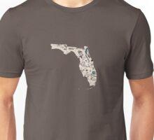 Florida Vintage Picture Map Unisex T-Shirt