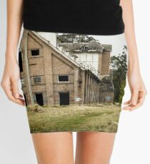 Abandoned Maltings Factory Exterior  Mini Skirt
