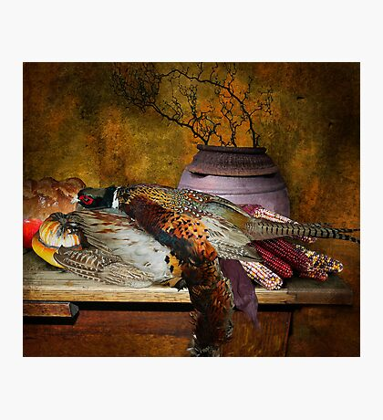 Still Life with Pheasants and Corn Photographic Print
