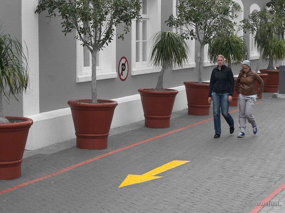 Urban walkway by awefaul
