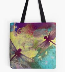Painting Dragonflies & Orchids. Tote Bag