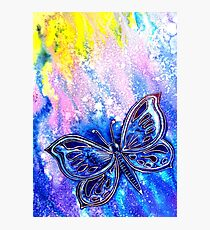 Cosmic Butterfly Photographic Print