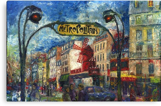 Paris Moulen Rouge by Yuriy Shevchuk