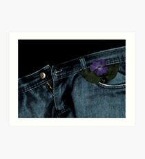 """Blue Jeans and Periwinkle"" Art Print"