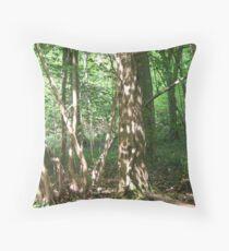 Dappled Woodland. Throw Pillow