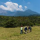 Hike on Mt Meru by Neville Jones