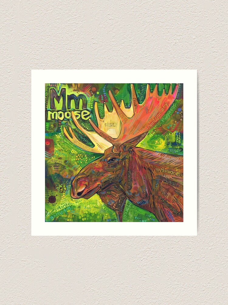 Alternate view of M Is for Moose - 2019 Art Print