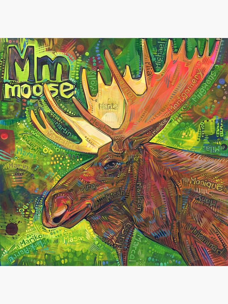 M Is for Moose - 2019 by gwennpaints