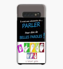 i LOVE YOU (in sign language) Case/Skin for Samsung Galaxy