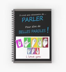 i LOVE YOU (in sign language) Spiral Notebook