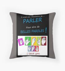 i LOVE YOU (in sign language) Throw Pillow