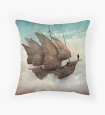 The Flying Merchant Throw Pillow