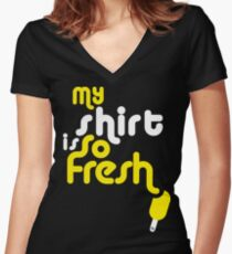 SoFresh Design - My shirt is SoFresh Women's Fitted V-Neck T-Shirt