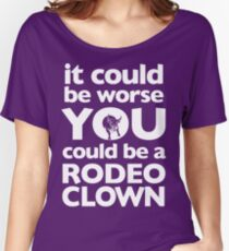 Rodeo Clown (White) Women's Relaxed Fit T-Shirt