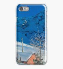 Eiger Winter Scene iPhone Case/Skin