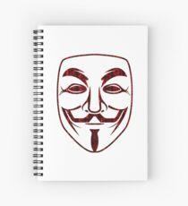 Red Matrix Rain Guy Fawkes Spiral Notebook