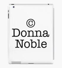 Copyright Donna Noble iPad Case/Skin