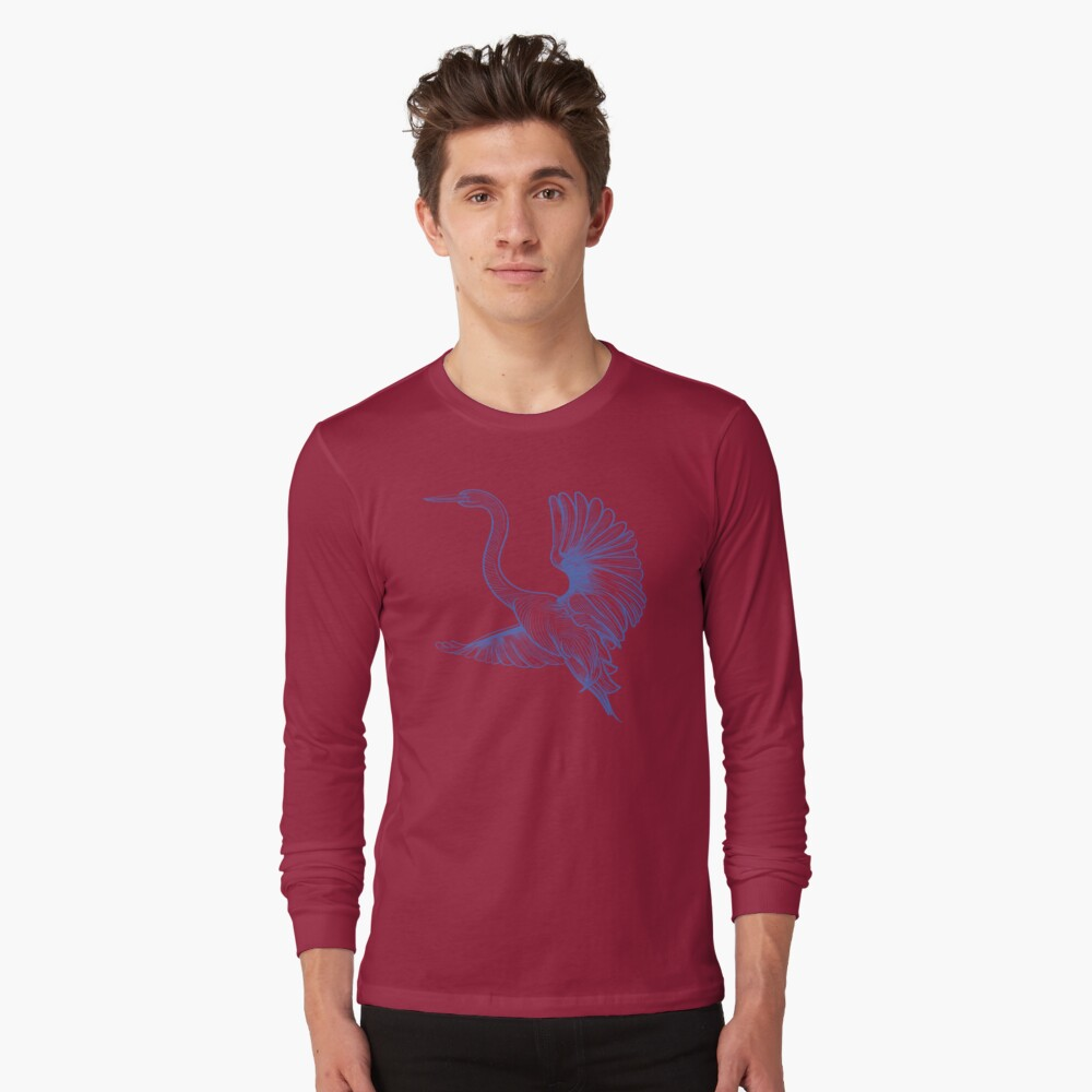 Egret liftoff Long Sleeve T-Shirt