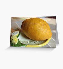 Lemon Squeezer Greeting Card