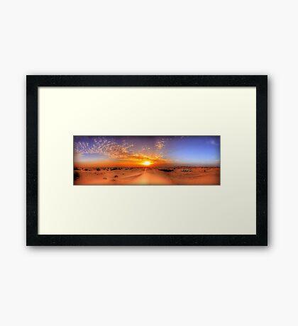 Dubai Desert HDR Panorama Framed Print